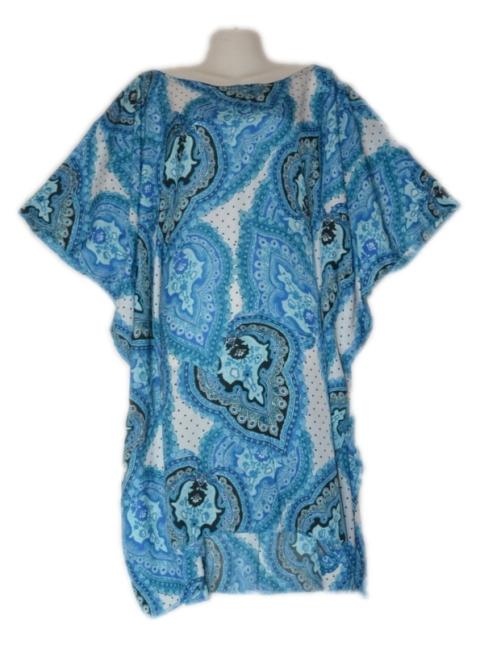 Superb Blue Paisley short kaftan